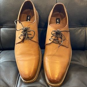 Red Tape Camel Dress Shoes Wood Bottom Size 10